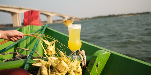 A cocktail on cruise deck in Silk Sense hoi an